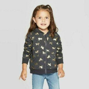 Cat & Jack Toddler Girls' Long Sleeve 'Unicorn' Sw